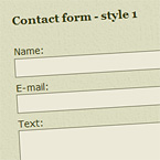 Basic contact form – HTML, CSS + PHP