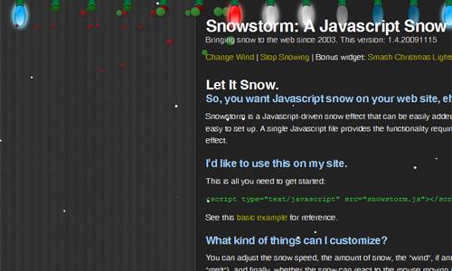 snowstorm javascript
