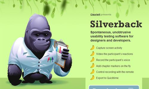 Parallax 3D efekt na stranici Silverbackapp.com