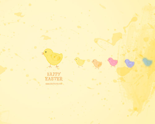 psd-tuts - easter wallpaper tutorial