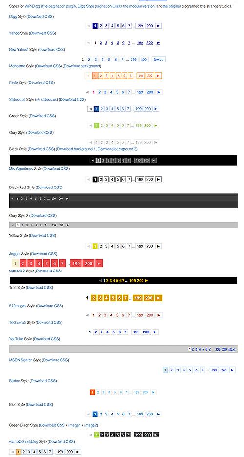 Mis Algoritmos - 25 css stilova numeracije web stranica,galerija slika itd