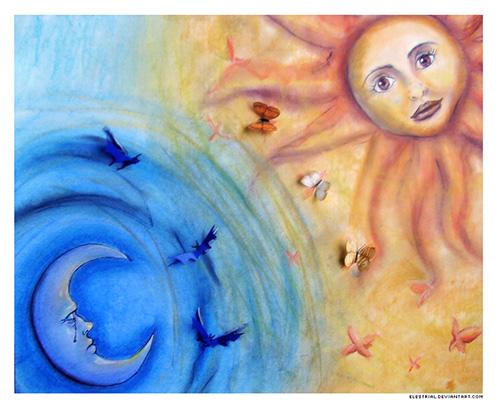 sunce i mjesec, sun and moon, ekvinocij