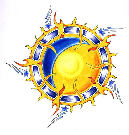 sun and moon, sunce i mjesec, ekvinocij