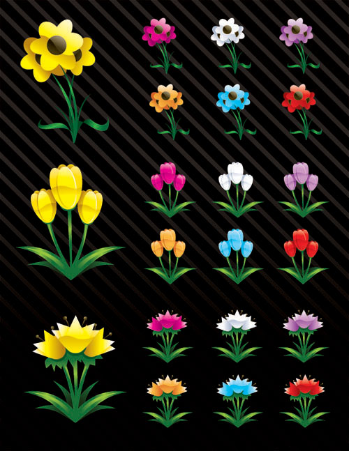 dryicons - vector flowers