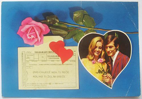 telegram, srce, ruža... ma cijela ikonografija