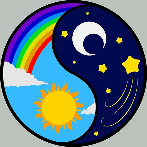 sunce i mjesec, ekvinocij