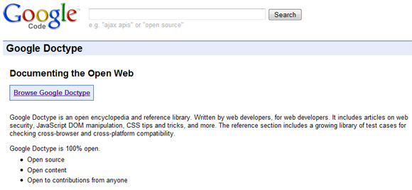 Google Doctype - enclikopedija za web dizajnere