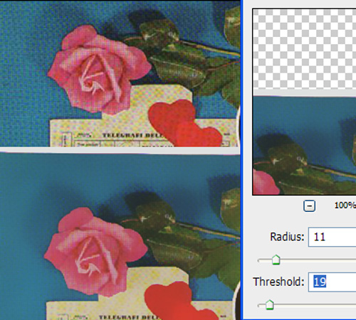 photoshop filter / blur / surface blur