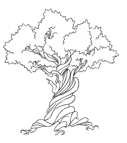 vector, tree, free, graphic, black and white