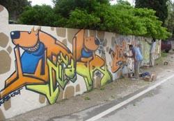 """graffiti zadar 2005 """"tko crta zlo ne misli"""" međunarodni graffiti festival"""
