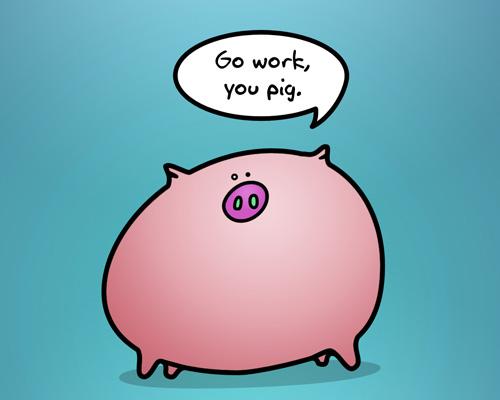 wallpaper pig