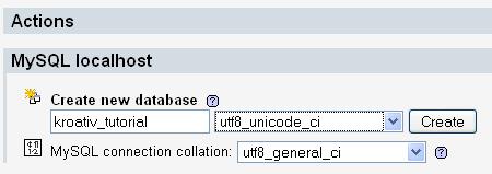 Kreiraj bazu u phpMyAdminu