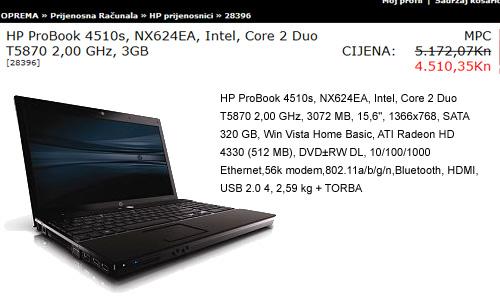 HP Probook 4510s Nx624EA