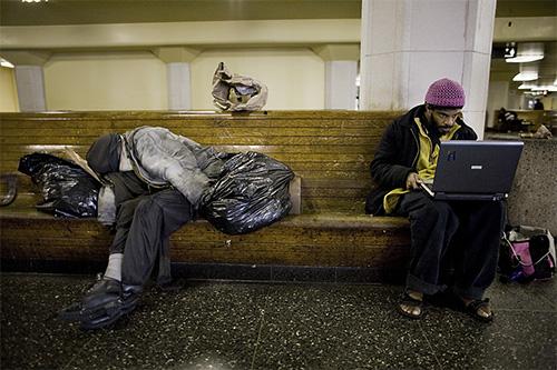homeless on net