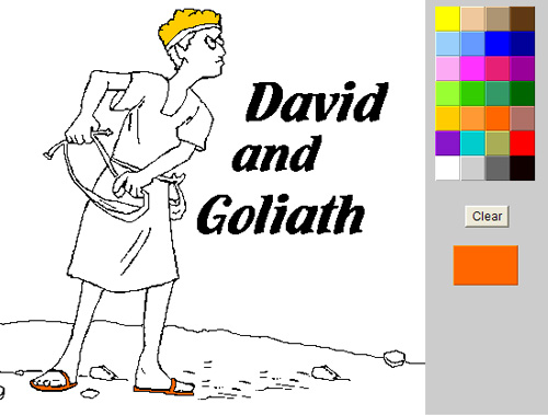 online bojanka bible coloring pages
