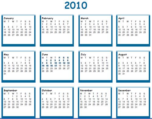 print kalendar 2010