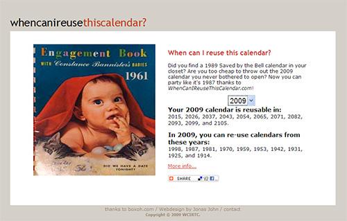 kada će opet vrijediti ovaj kalendar?