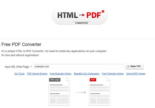 html - pdf converter