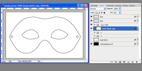 photoshop tutorial - how to make carneval mask