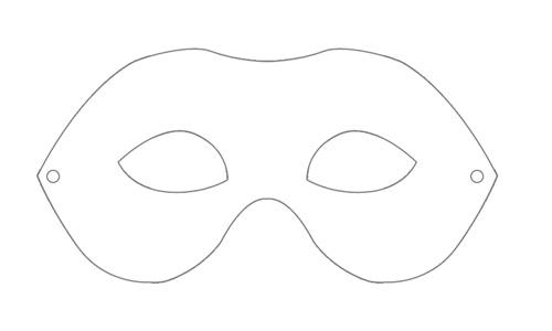 carneval - mask-blank-print