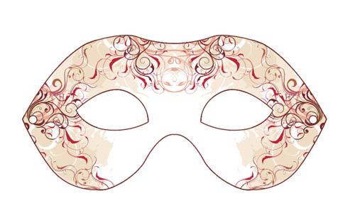 maska- karneval - carneval - mask - print