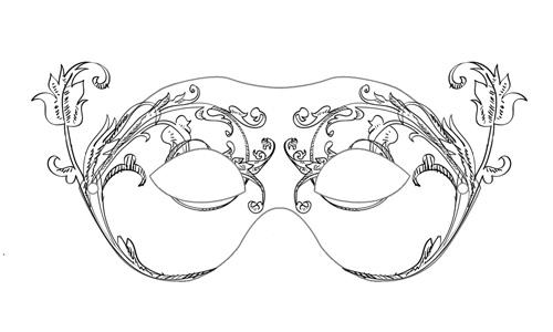 karnevalska maska, carneval mask, blank, print