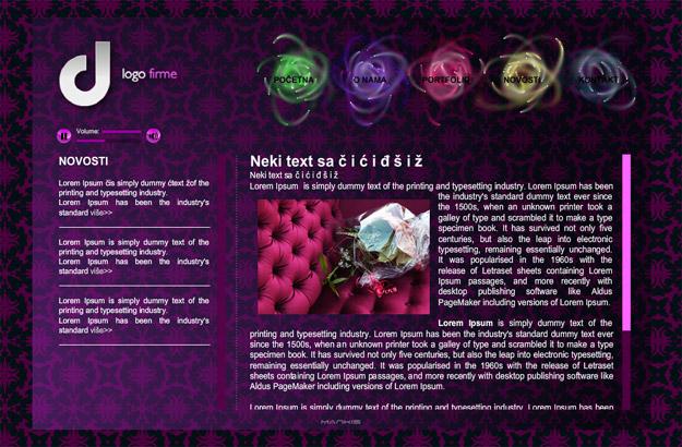 Besplatna Flash web stranica Mankis studia