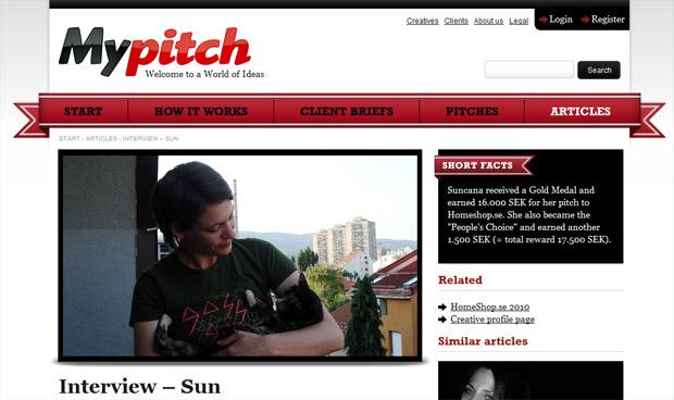Inervju na stranici MyPitch