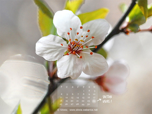 Easter desktop wallpaper + calendar , april 2011