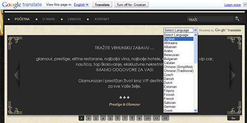 google translate - online prevoditelj