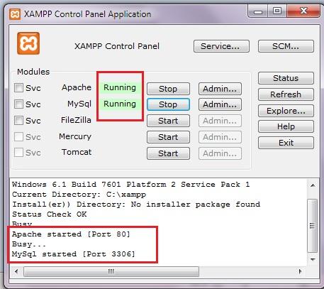 XAMPP Control panel #2